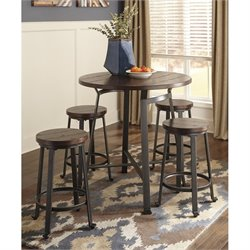 Challiman 5 Piece Round Dining Set