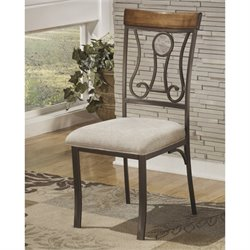 Ashley Hopstand Upholstered Dining Side Chair in Brown