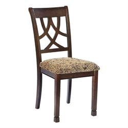 Ashley Leahlyn Upholstered Dining Chair in Medium Brown