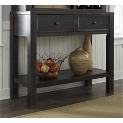 Ashley Gavelston Sideboard with Two Drawers in Black