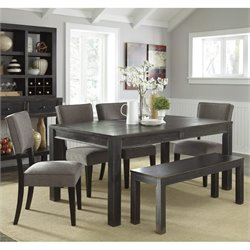 Gavelston 6 Piece Dining Set with Bench
