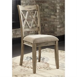 Ashley Mestler Upholstered Dining Chair in Antique White