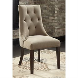 Ashley Mestler Tufted Dining Chair in Light Brown
