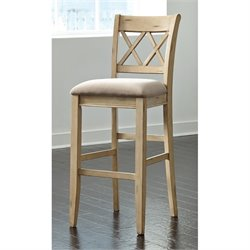 Mestler Upholstered Stool in Antique White
