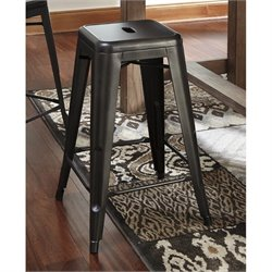 Pinnadel Metal Stool in Gray