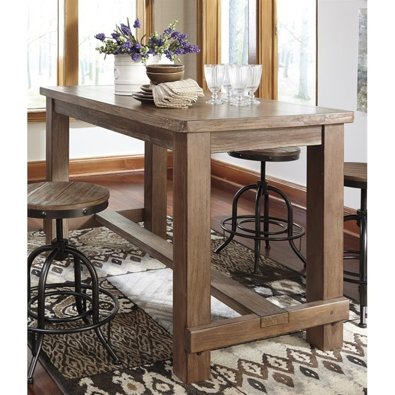Ashley Pinnadel Rectangular Counter Height Dining Table In