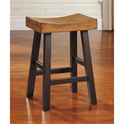Glosco Saddle Stool in Two-tone