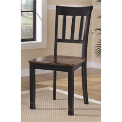 Ashley Owingsville Dining Chair in Black and Brown