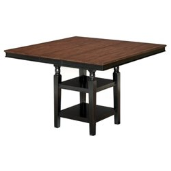 Ashley Owingsville Extendable Counter Height Dining Table in Brown