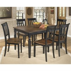 Ashley Owingsville Dining Set in Black and Brown