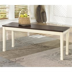 Ashley Whitesburg Large Dining Bench in Brown and Cottage White