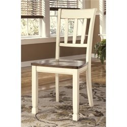 Ashley Whitesburg Dining Chair in Brown and Cottage White
