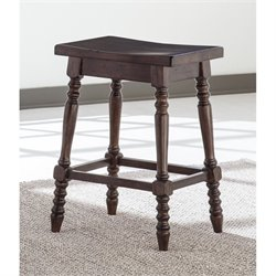 Moriann Saddle Stool in Dark Brown