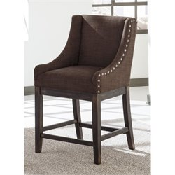 Moriann Upholstered Stool in Dark Brown