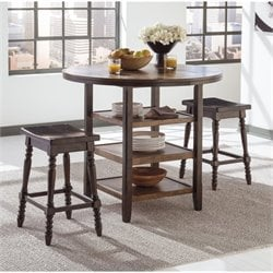 Moriann 3 Piece Round Counter Height Dining Set