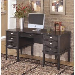 Ashley Carlyle Home Office Executive Desk in Almost Black