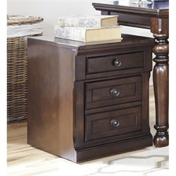 Ashley Porter File Cabinet in Brown