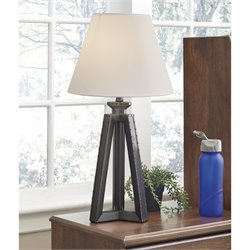 Ashley Sidony Poly Table Lamp in Metallic Gray