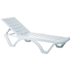 Compamia Aqua Pool Chaise Lounge in White