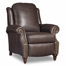 Bradington-Young Hobson Leather Recliner in Dark Brown