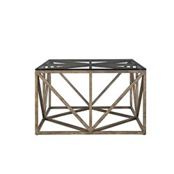 Universal Furniture Authenticity Truss Square Coffee Table in Khaki