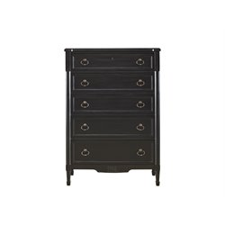 Universal Furniture Authenticity 5 Drawer Chest in Black Denim
