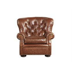 Universal Furniture Curated Maxwell Leather Arm Chair in Brown
