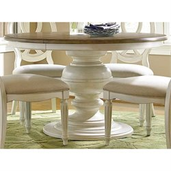 Universal Furniture Summer Hill Round Dining Table in Cotton