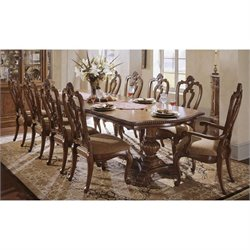 Universal Furniture Villa Cortina Double Pedestal Dining Table in Villa Cortina