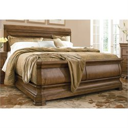 Universal Furniture New Lou Sleigh Bed in Cognac