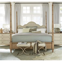 Universal Furniture Moderne Muse Maison Poster Bed in Bisque