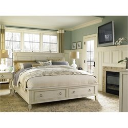 Universal Furniture Summer Hill Storage Bed in Cotton