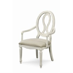 Universal Furniture Summer Hill Pierced Back Arm Chair in Cotton