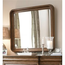 Universal Furniture New Lou Landscape Mirror in Cognac