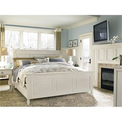 Universal Furniture Summer Hill Panel Bed in Cotton