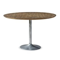 Universal Furniture Remix Round Pedestal Dining Table in Bannister