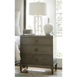Universal Furniture Playlist 3 Drawer Nightstand in Brown Eyed Girl