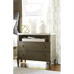 Universal Furniture Playlist 2 Drawer Nightstand in Brown Eyed Girl