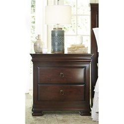 Universal Furniture Reprise 3 Drawer Nightstand in Rustic Cherry