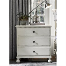 Universal Furniture Sojourn 3 Drawer Nightstand in Summer White