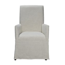 Universal Furniture Sojourn Upholstered Dining Chair in Summer White