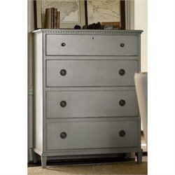 Universal Furniture Sojourn 4 Drawer Chest in Gray Lake