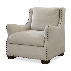 Universal Furniture Connor Upholstered Arm Chair in Linen