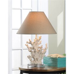 Zingz and Thingz Coral Table Table Lamp in White