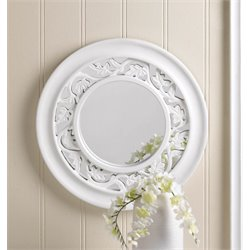 Zingz and Thingz Ivy Wall Mirror in White