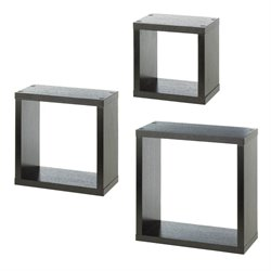 Zingz and Thingz Square Cube Shelves (Set of 3)