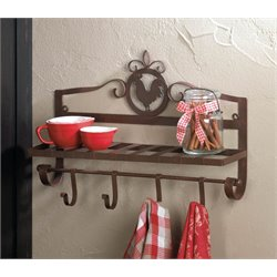 Zingz and Thingz Rooster Wall Rack