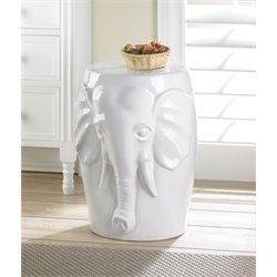 Zingz and Thingz Elephant Ceramic Decorative Stool