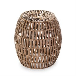 Zingz and Thingz Faux Woven Rattan Stool
