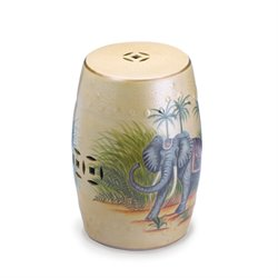 Zingz and Thingz Far East Elephant Ceramic Stool